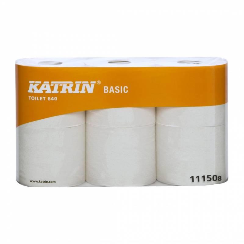 Image of   Toiletpapir Katrin Basic 640 natur 80m 11150 1-lag 42rul