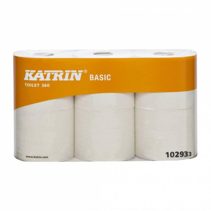 Billede af Toiletpapir Katrin Basic 360 ubleget 50m 10293 2-lag 42rul