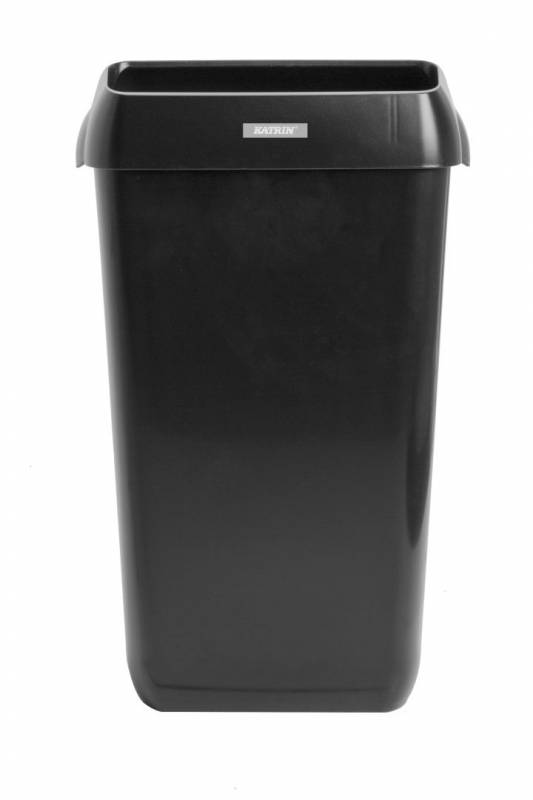 Image of   Affaldskurv Katrin Waste Bin sort plast 25l 92261