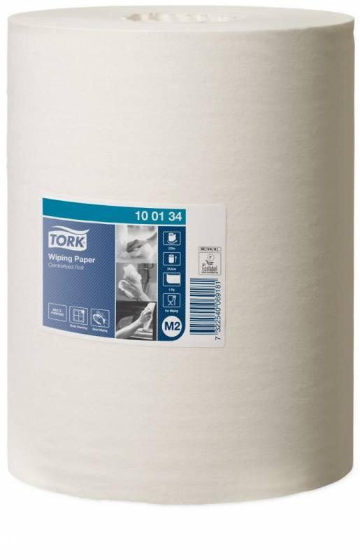 Aftørringspapir Tork Standard M2 1-lags hvid 275m 100134 6rl
