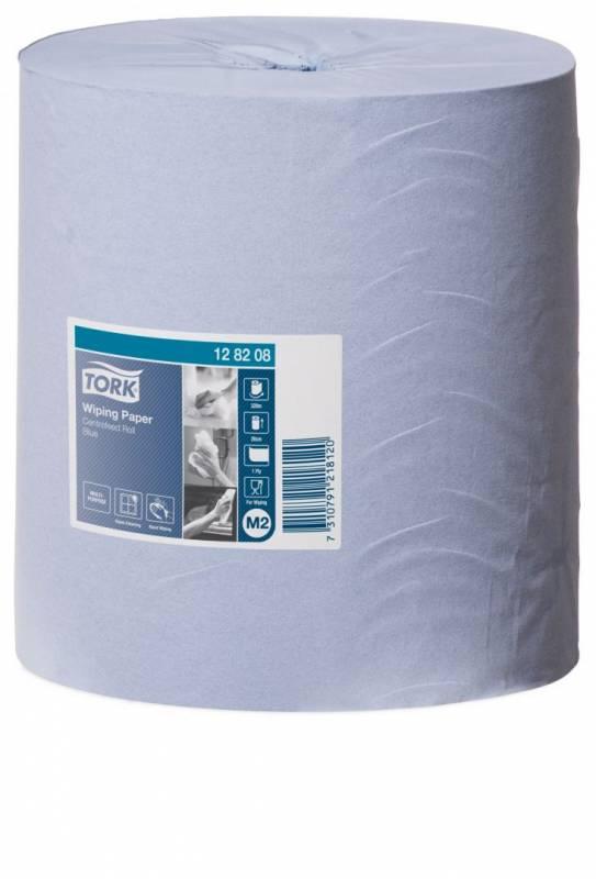 Billede af Aftørringspapir Tork Standard M2 1-lags blå 320m 128208 6rl
