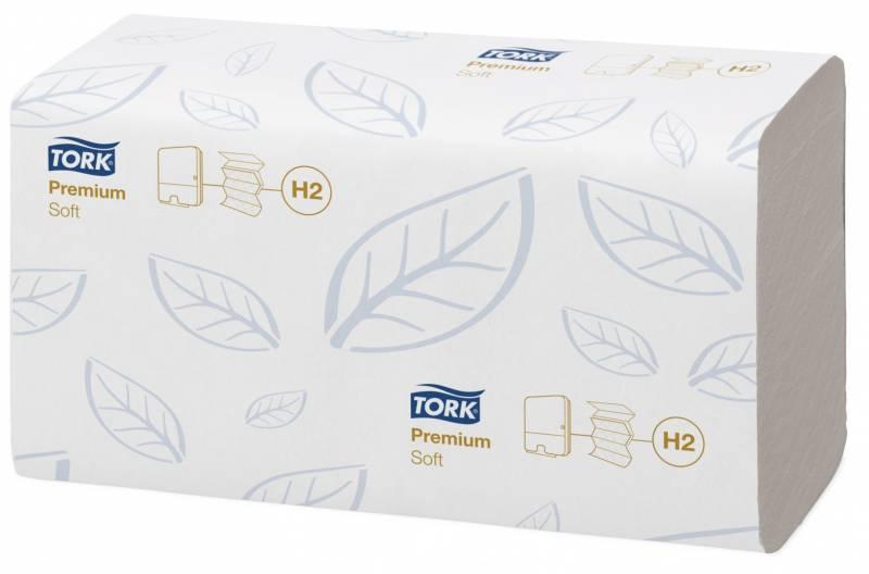 Billede af Papirhåndklæde Tork Xpress H2 Prem 2-lag M-fold 100288 2310