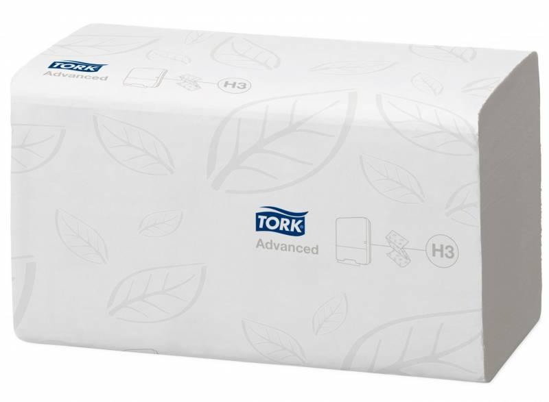 Billede af Papirhåndklæde Tork Soft H3 Adv 2-lag singlefo 290163 3750