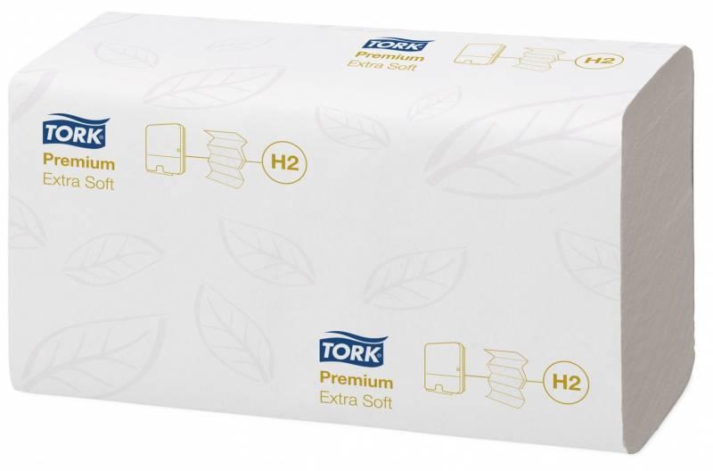 Billede af Papirhåndklæde Tork Xpress H2 Prem 2-lag M-fold 3x700stk/kar