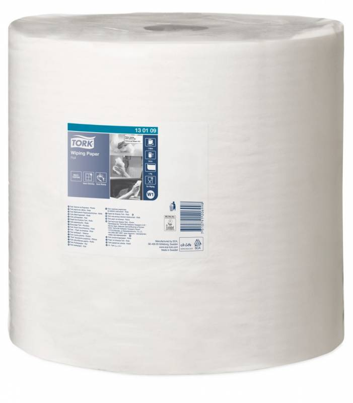 Aftørringspapir Tork Standard W1 1-lags hvid 1180m 130109