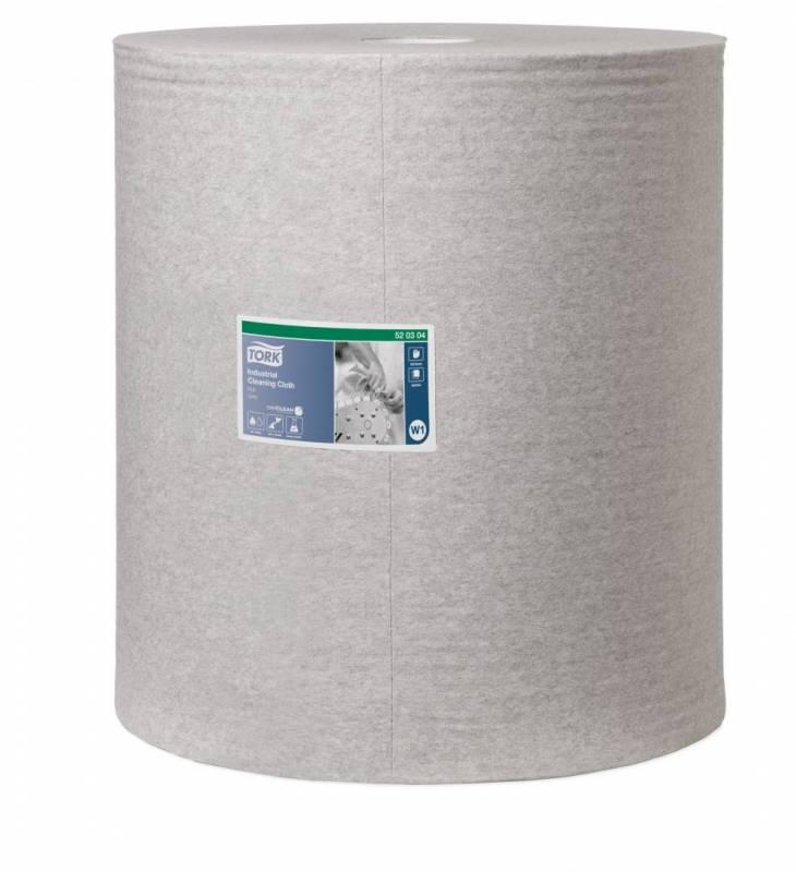 Aftørringsklud Tork Industri W1 grå 42cmx361m 950ark/rle