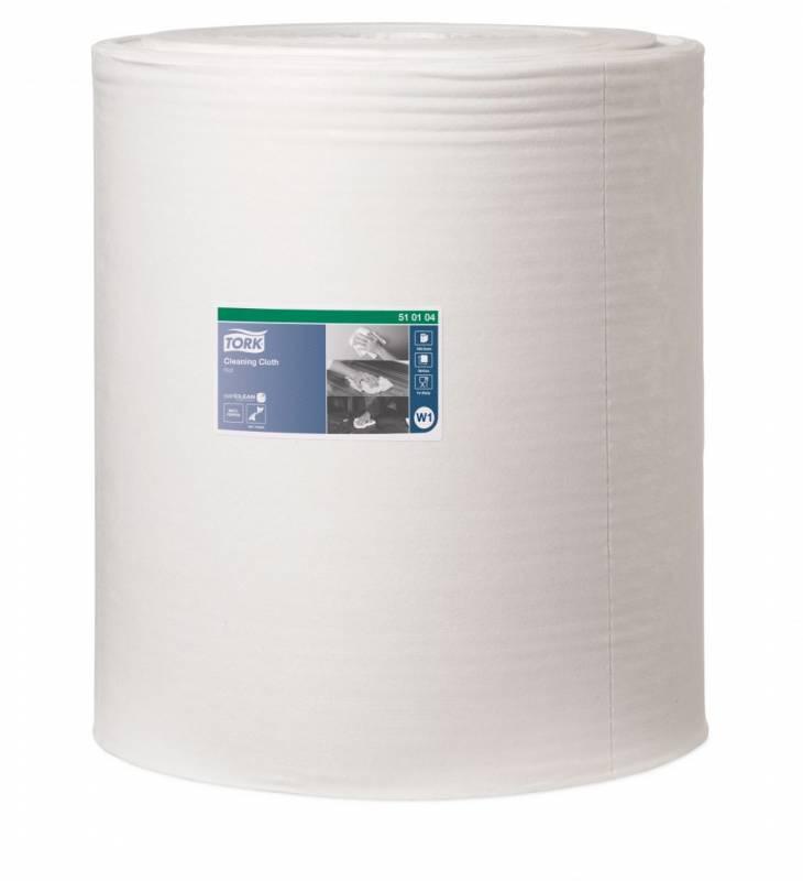 Aftørringsklud Tork W1 W1 hvid 380m/rle