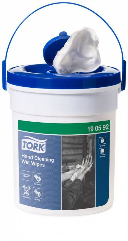 Image of   Håndrens Tork Wet Wipe spand 58ark/spand 4sp/kar