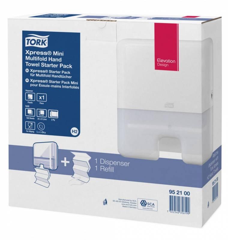 Billede af Papirhåndklæder Tork Startpack Mini/interfold 1 disp/1kar papir