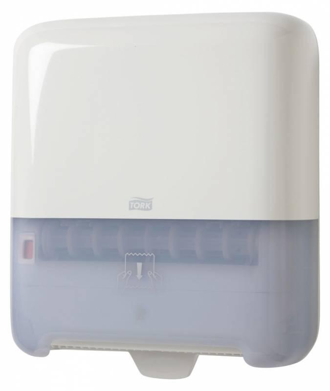 Image of   Dispenser Tork Matic H1 hvid t/håndklædeark på rulle