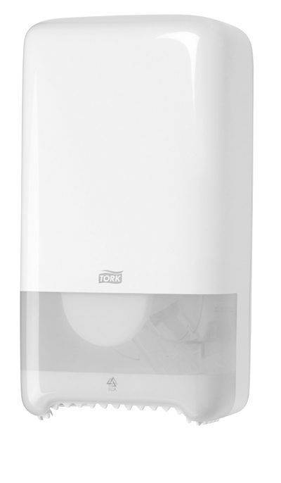 Image of   Dispenser Tork MidSize T6 hvid t/toiletpapir 557500