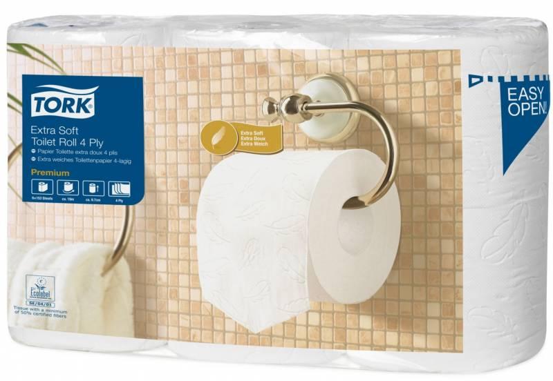 Billede af Toiletpapir Tork Extra soft T4 4-lag 19,1m 110405 42rul/kar