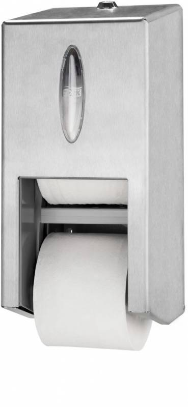 Image of   Dispenser Tork MidSize Twin T7 t/toiletpapir rustfri 2rl/disp