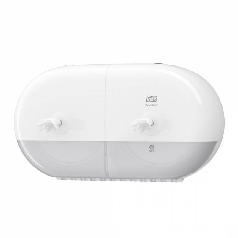 Image of   Dispenser Tork SmartOne Twin Mini hvid t/toiletpapir