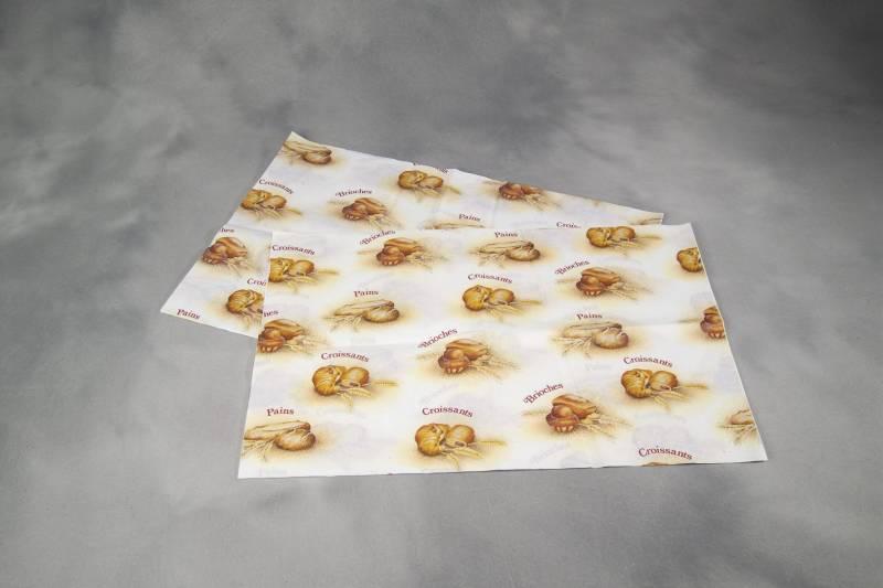 Billede af Fransk silke croissantpapir 40x60cm 10kg/pak hvid m/brun