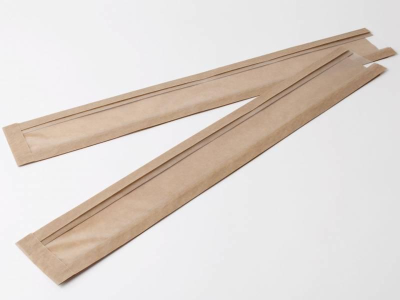 Billede af Flutespose med rude i brun 40g 100/55x655mm 500stk/pak