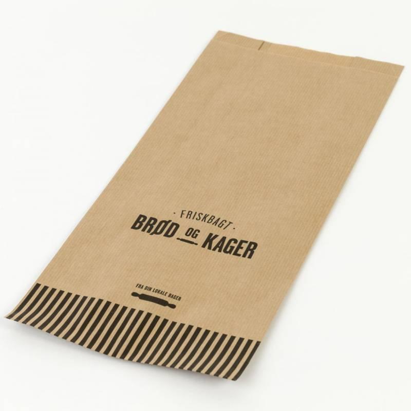 Image of   Bagerpose m/sidefals mellem Friskbagt brød og kager 500stk