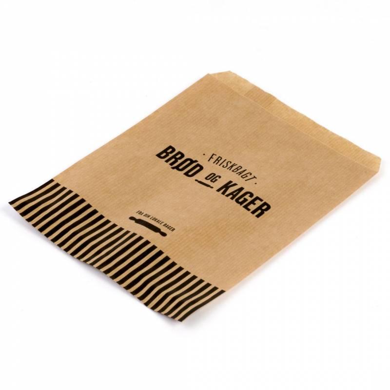 Image of   Bagerpose 0,5kg ribbet brun Friskbagt brød og kager 1000st