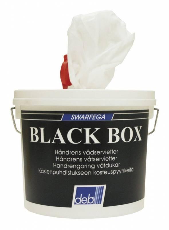 Billede af Håndrenseservietter Black Box 150stk/stk 1675