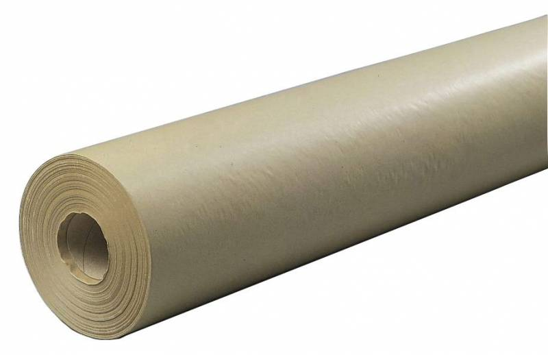 Billede af Papir kraft brun 40cmx200mx50g m/paprør 4,0kg