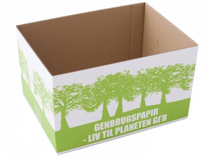 Image of   Miljøkasse t/genbrugspapir 340x250x200mm
