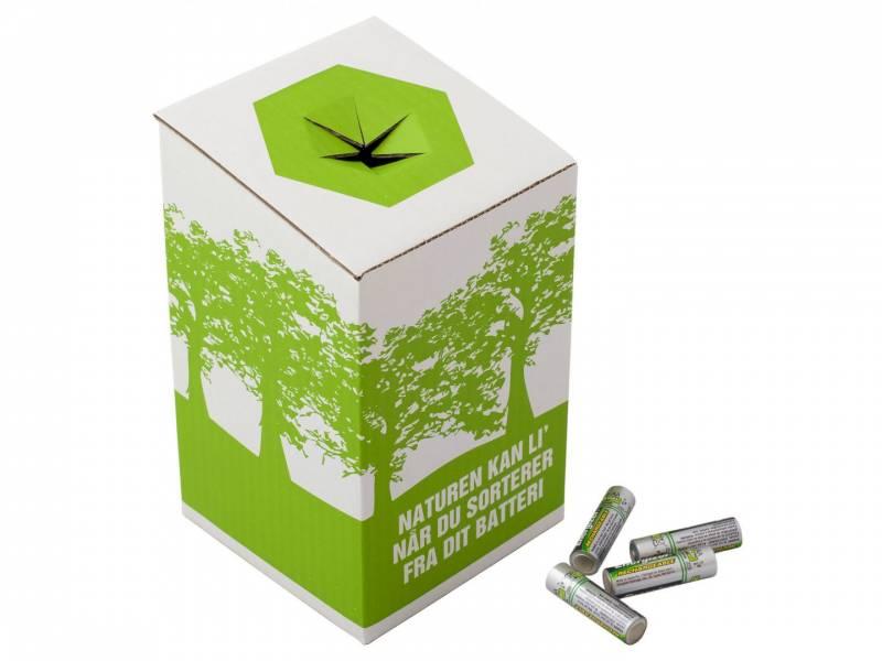 Miljøkasse t/brugte batterier 120x120x200mm
