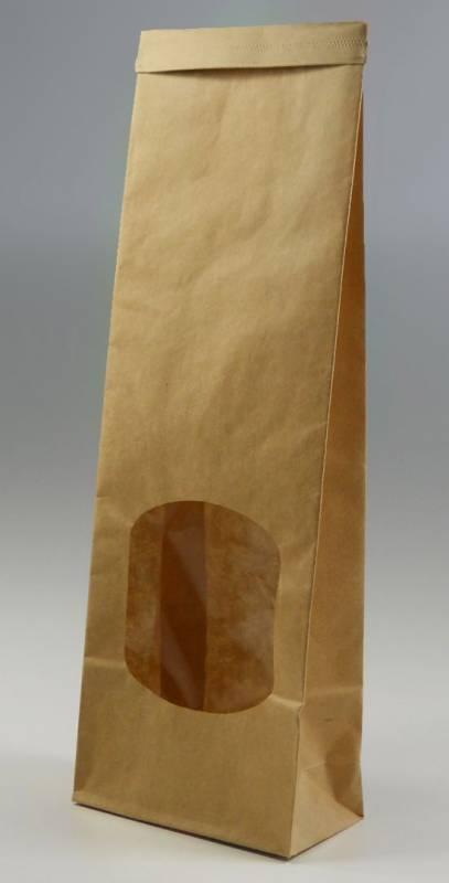 Image of   Klodsbundspose m/rude PE clip- lukning brun lille 1000stk/pak