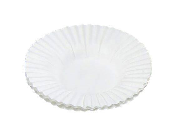 Billede af Kagekapsel præstekrave hvid 105x16mm 4,5cm bund 500stk/pak