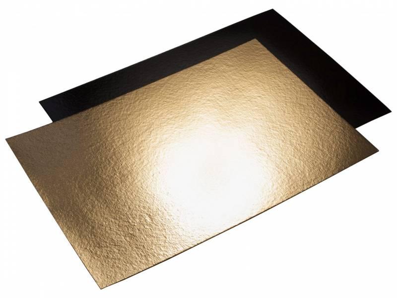 Billede af Kagepap guld/sort 29x40cm kraftig 25stk/pak