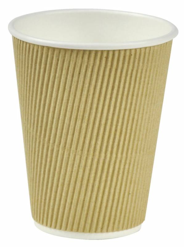 Image of   Kaffebæger pap Nature Line 12oz ripple wall 500stk 34cl