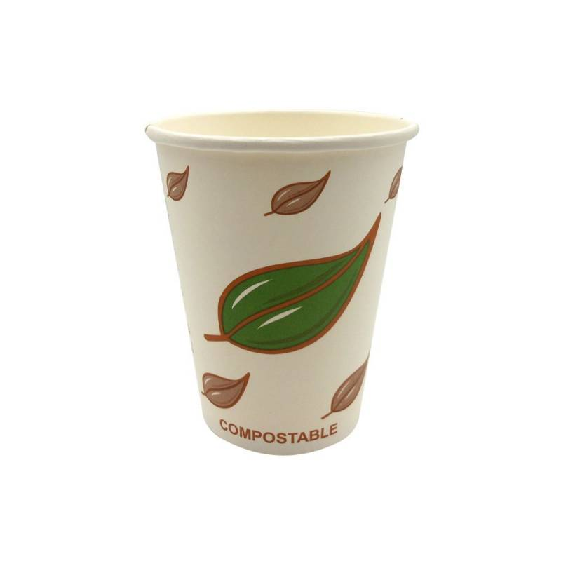 Image of   Kaffebæger 12oz 34cl miljørigtige Single Wall pap 1000stk/kar