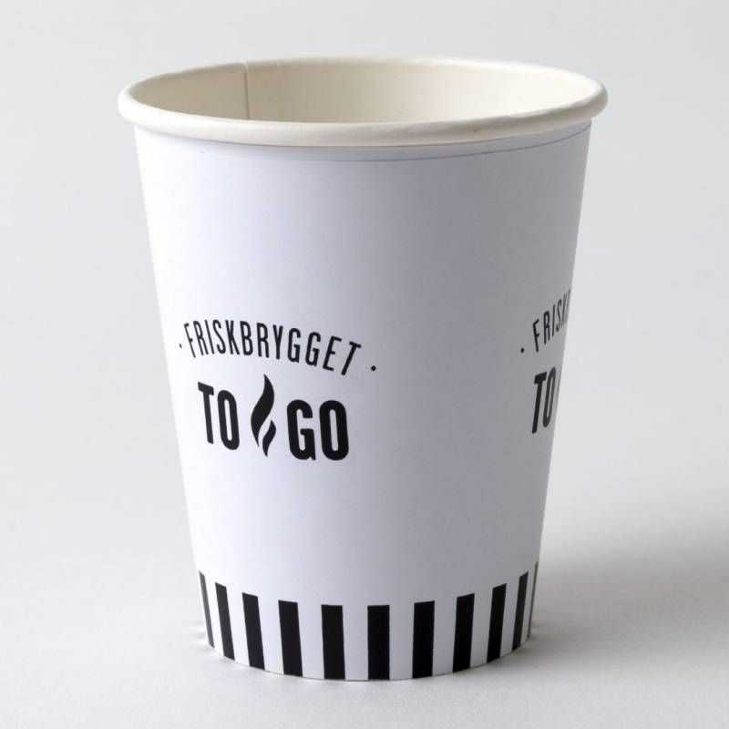 Image of   Kaffebæger 8oz FriskBrygget Single Wall pap 1000stk/kar