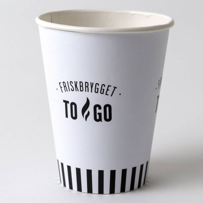 Image of   Kaffebæger 12oz FriskBrygget Single Wall pap 1000stk/kar