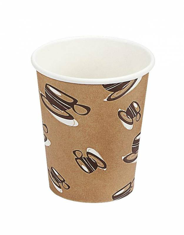 Image of   Kaffebæger 8oz 25cl Hot Cup Single Wall pap 1000stk/kar