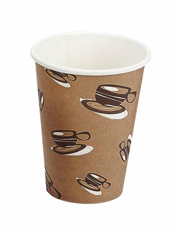 Billede af Kaffebæger 12oz 34cl Hot Cup Single Wall pap 1000stk/kar