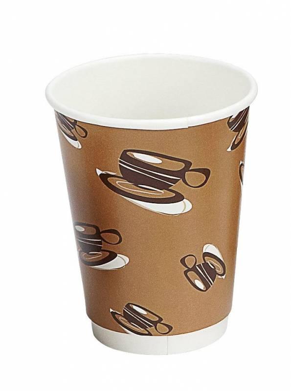 Billede af Kaffebæger 12oz 34cl Hot Cup Double Wall pap 500stk/kar