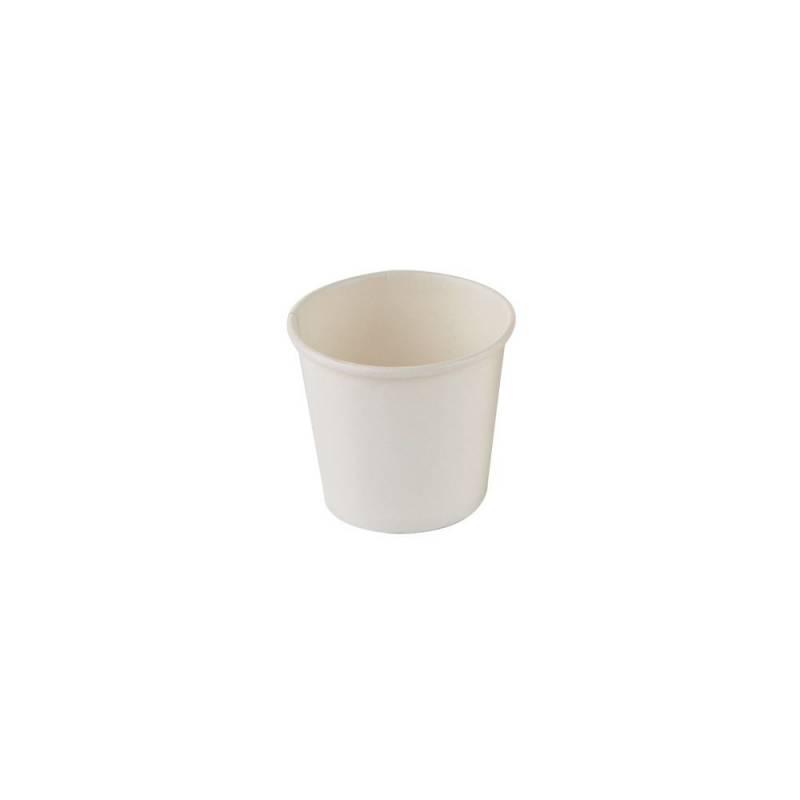 Image of   Kaffebæger espresso hvid 4oz Single Wall pap 1000stk/kar