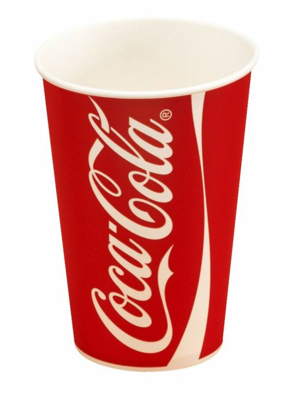 Image of   Drikkebægre Coca Cola 40c/16oz 1000stk/kar (total 45cl)
