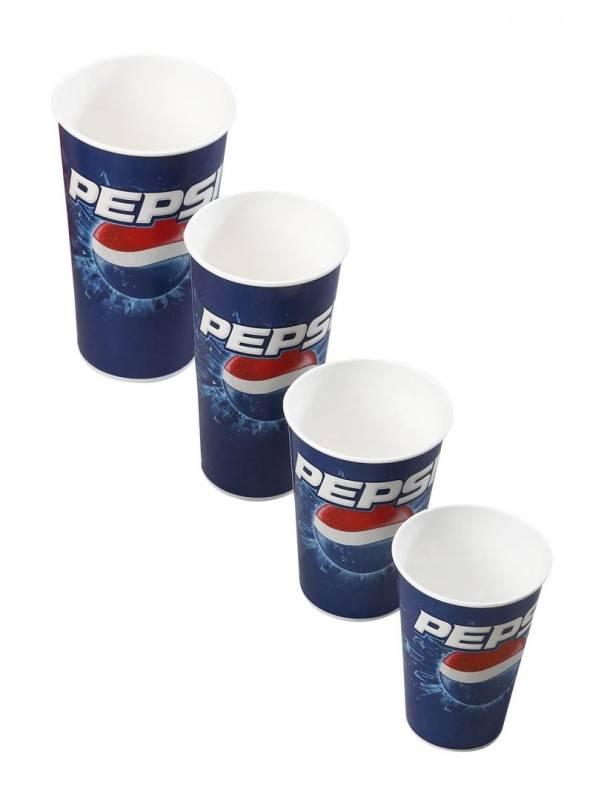 Billede af Drikkebægre pap Pepsi 40cl 1000stk/kar (total 50cl)