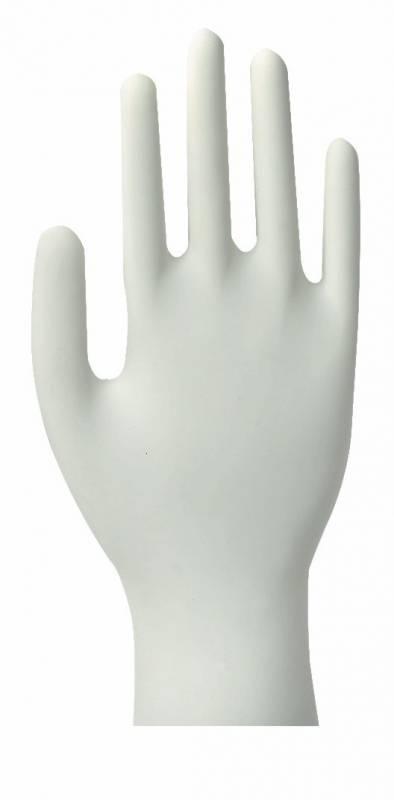Image of   Latexhandsker Classic medium hvid pudderfri 100stk/pak