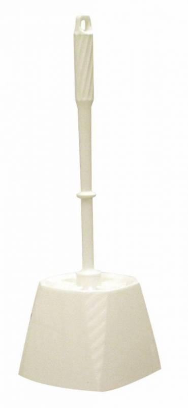 Billede af Toiletbørste m/skål hvid ø75x360mm