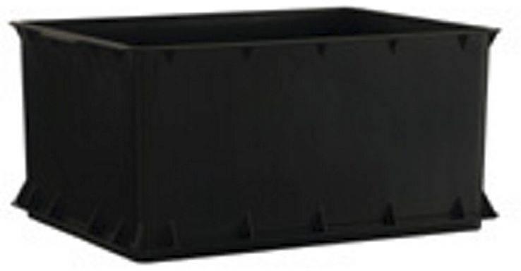 Legekasse sort kraftig 23l 43x34x21cm