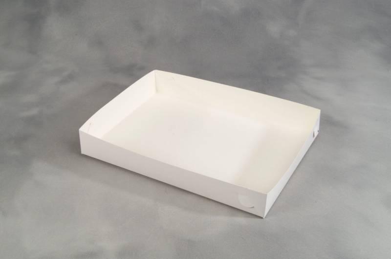 Image of   Smørrebrødsæske hvid 45x32x6,5cm 100stk/pak