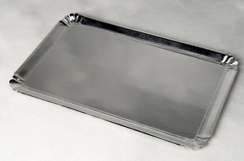 Billede af Papfad sølv 42x28cm 25stk/pak