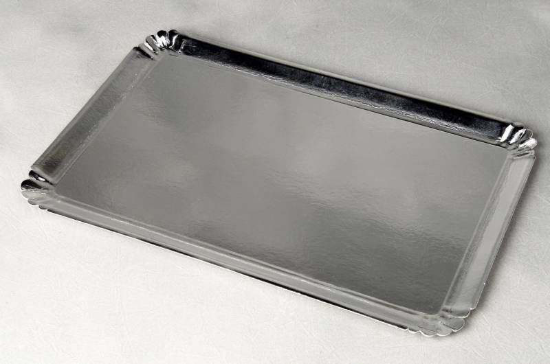 Image of   Papfad sølv 42x28cm 25stk/pak