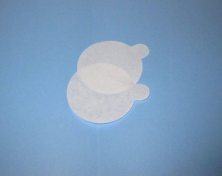 Billede af Smørrundel med øre Ø60mm hvid 1000stk/pak