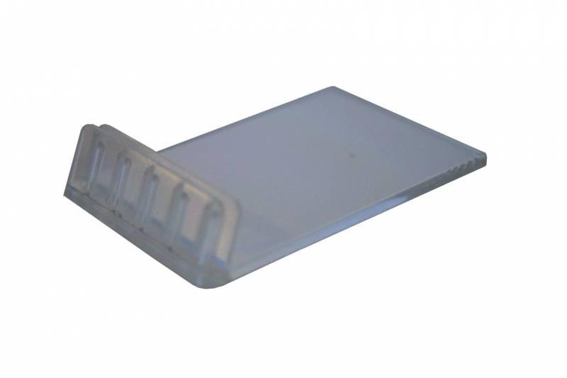 Image of   Skilteholder klar plast 60x40x13mm 20stk/pak