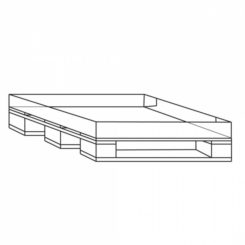 Engangspalle m/bølgepapbund 24 800x600x15mm