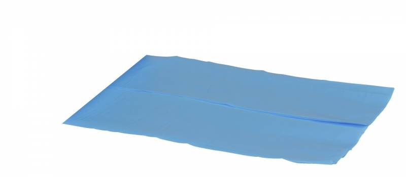 Image of   Plastikpose HDPE blå 650/225x650x0,01mm
