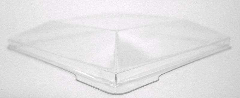 Image of   Låg til dessertbæger PS klar, 72x72mm firkantet Kova 400stk/kar